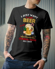 I JUST WANT TO DRINK BEER Classic T-Shirt lifestyle-mens-crewneck-front-6