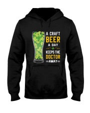 A craft beer a day keeps the doctor away Hooded Sweatshirt front