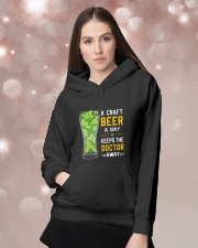 A craft beer a day keeps the doctor away Hooded Sweatshirt lifestyle-holiday-hoodie-front-1