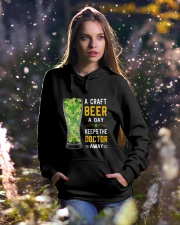 A craft beer a day keeps the doctor away Hooded Sweatshirt lifestyle-holiday-hoodie-front-5