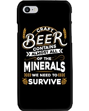 CRAFT BEER CONTAINS ALMOST ALL OF THE MINERALS Phone Case thumbnail