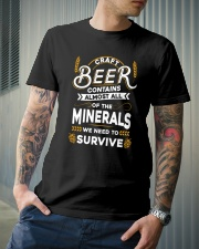 CRAFT BEER CONTAINS ALMOST ALL OF THE MINERALS Classic T-Shirt lifestyle-mens-crewneck-front-6