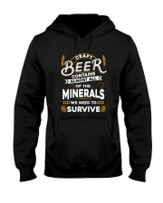CRAFT BEER CONTAINS ALMOST ALL OF THE MINERALS Hooded Sweatshirt thumbnail