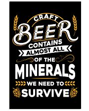 CRAFT BEER CONTAINS ALMOST ALL OF THE MINERALS 11x17 Poster thumbnail