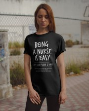 Being a Nurse is Easy1 Classic T-Shirt apparel-classic-tshirt-lifestyle-18