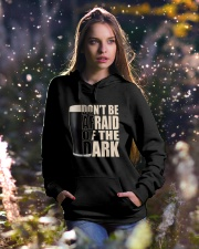 Don't be afraid of the dark Hooded Sweatshirt lifestyle-holiday-hoodie-front-5