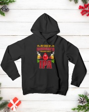 My blood type is IPA Hooded Sweatshirt lifestyle-holiday-hoodie-front-3