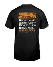5 KEYS TO HAPPINESS Classic T-Shirt back