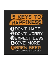 5 KEYS TO HAPPINESS Square Coaster thumbnail