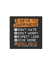 5 KEYS TO HAPPINESS Square Magnet thumbnail