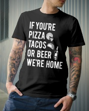 If you're pizza tacos Classic T-Shirt lifestyle-mens-crewneck-front-6