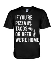 If you're pizza tacos V-Neck T-Shirt thumbnail