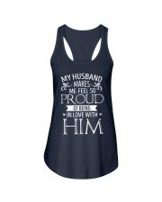 My-Husband-Proud Ladies Flowy Tank thumbnail