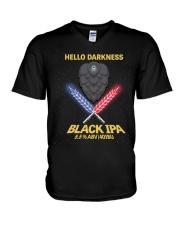 HELLO DARKNESS BLACK IPA V-Neck T-Shirt thumbnail