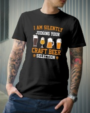 I AM SILENTLY JUDGING YOUR CRAFT BEER SELECTION Classic T-Shirt lifestyle-mens-crewneck-front-6
