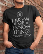 Brew and know things Classic T-Shirt apparel-classic-tshirt-lifestyle-26