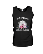 JUST A WOMAN WHO LOVES CRAFT BEER Unisex Tank thumbnail