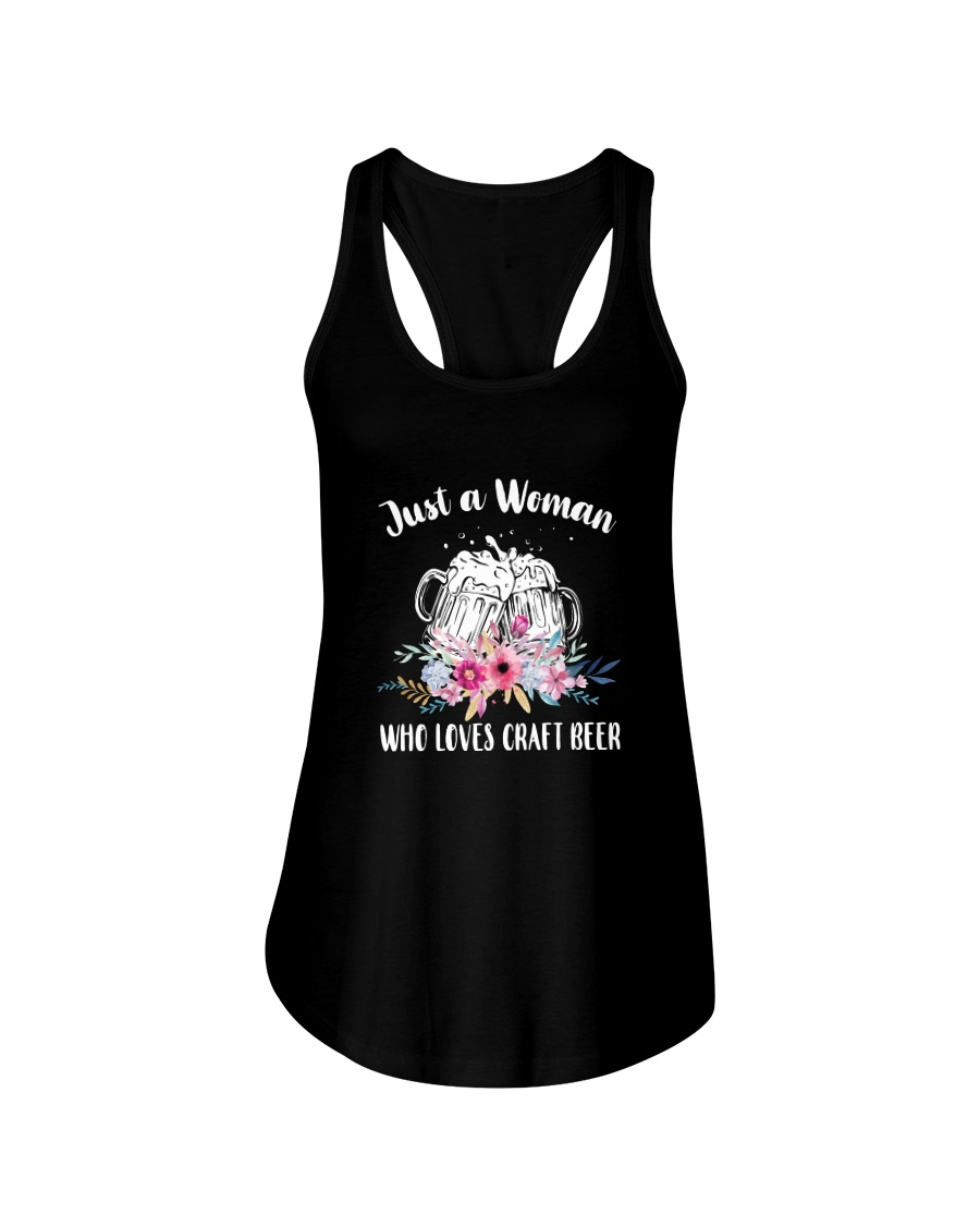 JUST A WOMAN WHO LOVES CRAFT BEER Ladies Flowy Tank