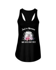 JUST A WOMAN WHO LOVES CRAFT BEER Ladies Flowy Tank front