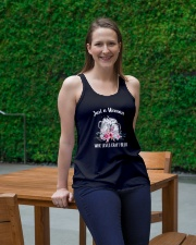 JUST A WOMAN WHO LOVES CRAFT BEER Ladies Flowy Tank lifestyle-bellaflowy-tank-front-1