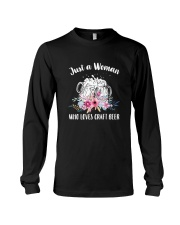 JUST A WOMAN WHO LOVES CRAFT BEER Long Sleeve Tee thumbnail