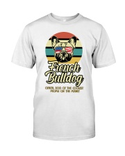 Funny French Bulldog Vintage Retro T-Shirt Gift Premium Fit Mens Tee tile