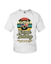 Funny French Bulldog Vintage Retro T-Shirt Gift Youth T-Shirt tile
