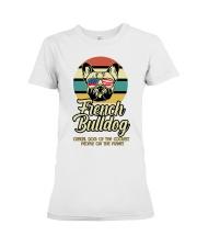 Funny French Bulldog Vintage Retro T-Shirt Gift Premium Fit Ladies Tee thumbnail