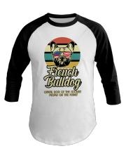 Funny French Bulldog Vintage Retro T-Shirt Gift Baseball Tee thumbnail