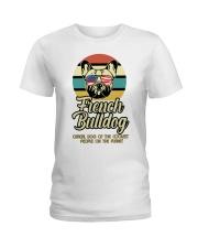 Funny French Bulldog Vintage Retro T-Shirt Gift Ladies T-Shirt thumbnail
