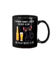 A WOMAN CANNOT SURVIVE ON BEER ALONE SHE ALSO  Mug thumbnail