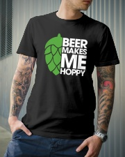 Beer Makes Me Hoppy Classic T-Shirt lifestyle-mens-crewneck-front-6