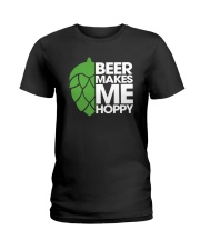 Beer Makes Me Hoppy Ladies T-Shirt tile