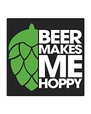 Beer Makes Me Hoppy Square Coaster tile