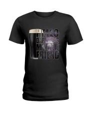 Beer - Hello Darkness Galaxy Ladies T-Shirt thumbnail