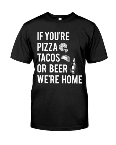 If you're pizza tacos or beer