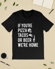 If you're pizza tacos or beer Classic T-Shirt lifestyle-mens-crewneck-front-19