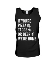 If you're pizza tacos or beer Unisex Tank thumbnail