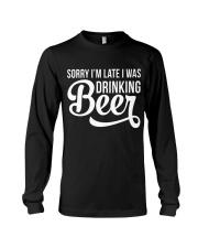 DRINKING BEER Long Sleeve Tee thumbnail