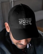 DRINKING BEER Embroidered Hat garment-embroidery-hat-lifestyle-02