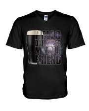 Beer - Hello Darkness Galaxy1 V-Neck T-Shirt thumbnail