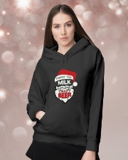Forget the milk leave santa a craft beer Hooded Sweatshirt lifestyle-holiday-hoodie-front-1
