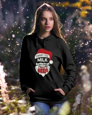 Forget the milk leave santa a craft beer Hooded Sweatshirt lifestyle-holiday-hoodie-front-5