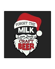 Forget the milk leave santa a craft beer Square Coaster thumbnail