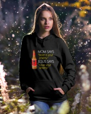 Love your enemy Hooded Sweatshirt lifestyle-holiday-hoodie-front-5
