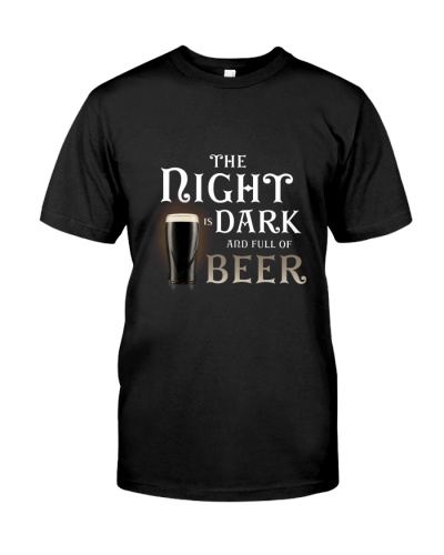 The night is dark and full of beer