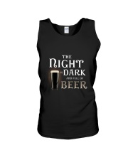 The night is dark and full of beer Unisex Tank thumbnail