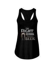 The night is dark and full of beer Ladies Flowy Tank thumbnail