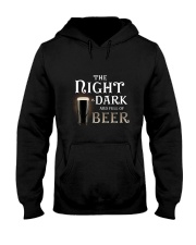 The night is dark and full of beer Hooded Sweatshirt thumbnail