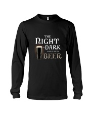 The night is dark and full of beer Long Sleeve Tee thumbnail